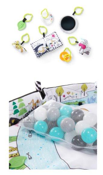 KINDERKRAFT tekstiilist mängumatt SmartPlay