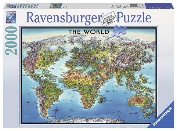 Ravensburger RAVENSBURGER pusle World Map 2000tk, 166831