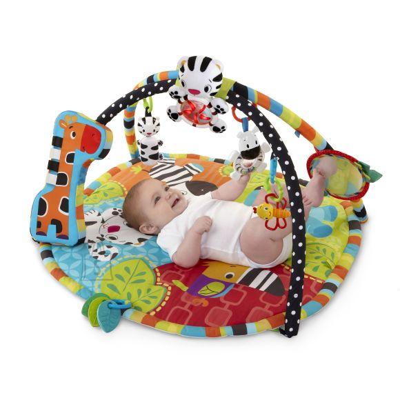 BRIGHT STARST mängumatt Start Your Senses™ Spots & Stripes Safari Gym™