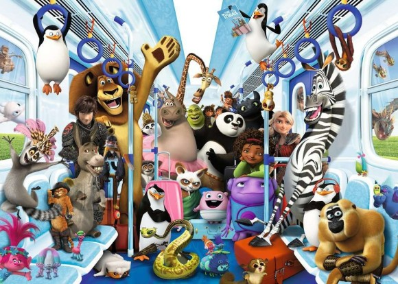 RAVENSBURGER pusle Disney DreamWorks tuur, 1000psc., 13975