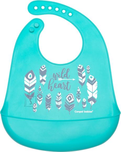 CANPOL BABIES silikoonist pudipõll taskuga Wild Nature, 74/023_blu
