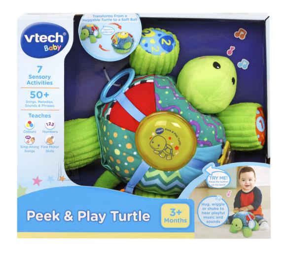 VTECH muusikaline mänguasi Peek and Play kilpkonn, 80-501603