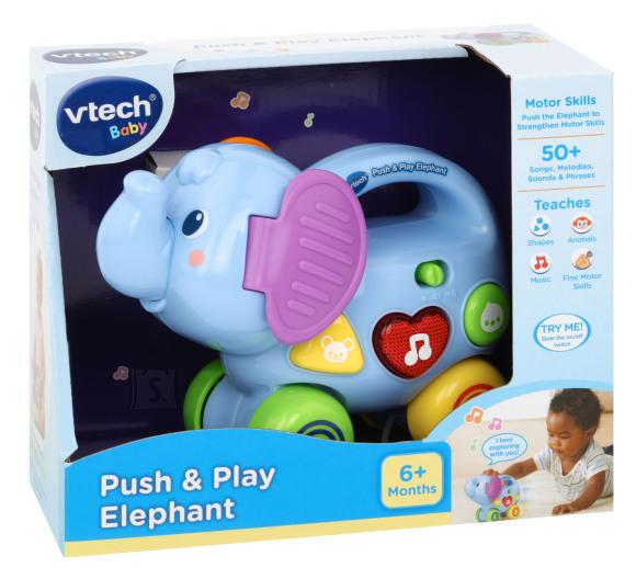 VTECH muusikaline mänguasi Push and Play Elevant, 80-513603