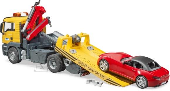 BRUDER puksiirauto MAN TGS Roadster autoga, 3750