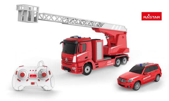 RASTAR raadioteel juhitav auto Mercedes-Benz Antos Fire Engine & Rescue 2 in 1 2.4G, 78640