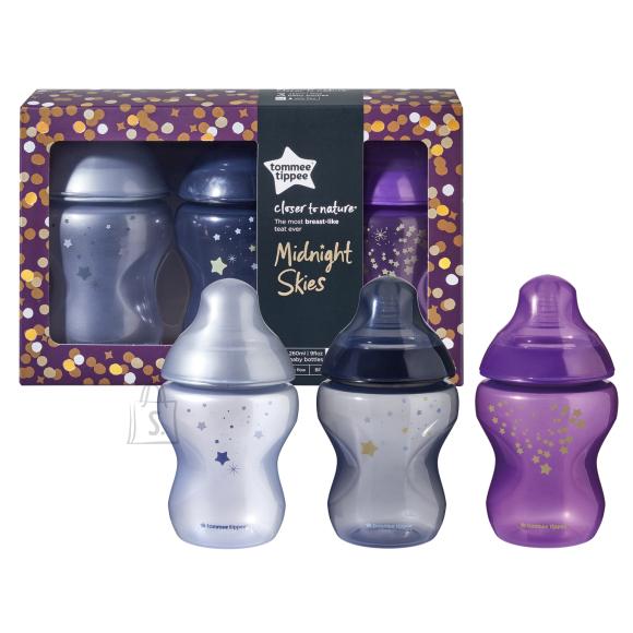 Tommee Tippee TOMMEE TIPPEE pudelite komplekt Midnight Skies 3x 260ml, 422598