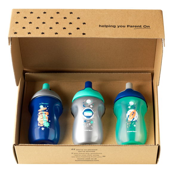 TOMMEE TIPPEE joogipudelid poistele 12kuud+ 3x, 447163