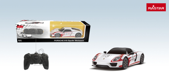 RASTAR raadioteel juhitav auto R/C 1:24 Porsche 918 Spyder Performance, 71410