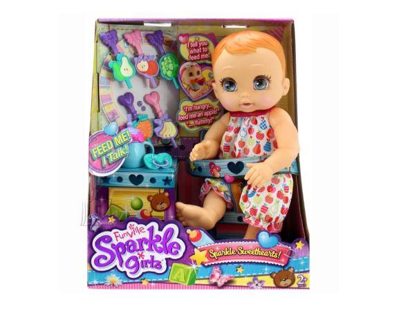 SPARKLE GIRLZ rääkiv beebi Sweethearts toitmiskomplektiga, 24761_lt