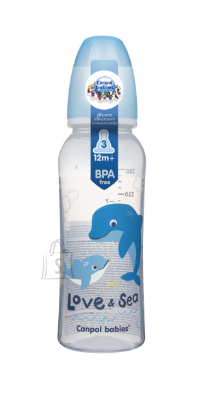 Canpol CANPOL BABIES kitsa kaelaga pudel PP Love and Sea, 250ml, 59/400