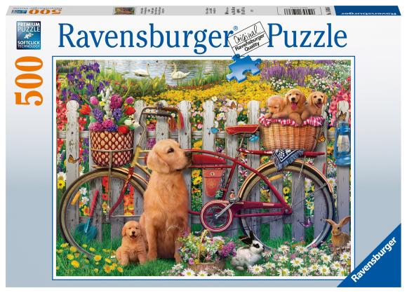 RAVENSBURGER pusle Armsad koerad aias, 500tk, 15036