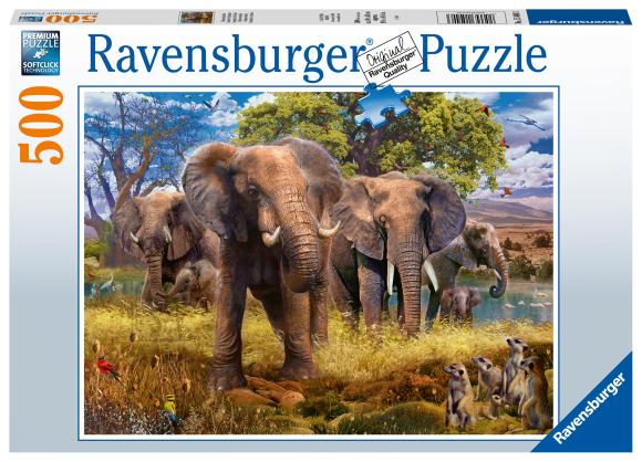 RAVENSBURGER pusle Elevandi perekond, 500tk, 15040