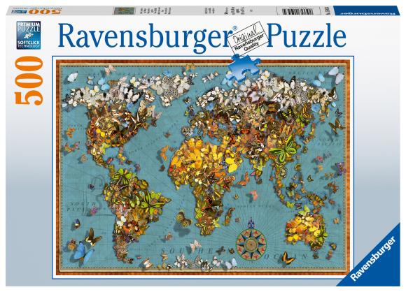 RAVENSBURGER pusle Maailma täis liblikaid, 500tk, 15043