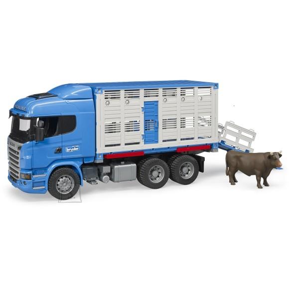 BRUDER Scania R-Seeria kariloomade transpordiveok; sisaldab 1 looma, 03549