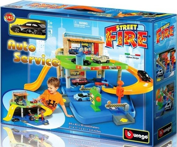 BBURAGO 1:43 seatud autoteenindus Street Fire, 18-30039