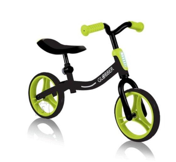 GLOBBER jooksuratas Go Bike must/roheline, 610-136
