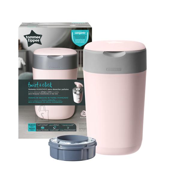 TOMEE TIPPEE mähkmete konteiner Keerake&Klõpsake, õrn roosa, 85101601
