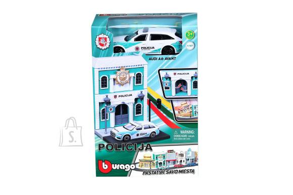BBURAGO 1:43 politseijaoskond politsei autoga Bburago City, 18-31502