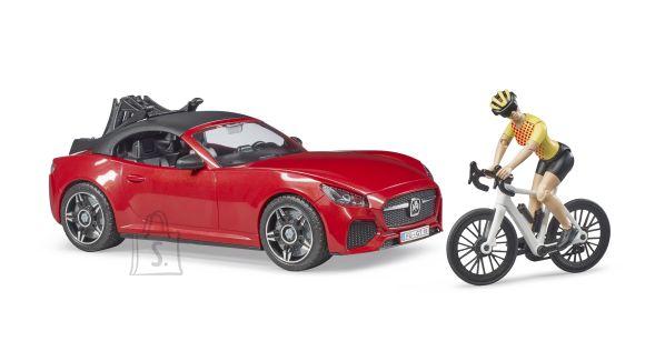 BRUDER Roadster koos ühe maanteeratta ja jalgratturiga, 03485