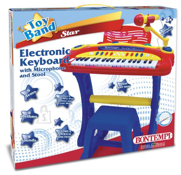 BONTEMPI 37 klahviga elektrooniline klaviatuur koos mikrofoniga, 13 3442