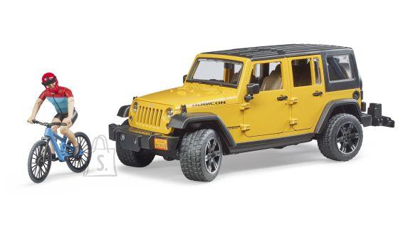 BRUDER Jeep Wrangler Rubicon Unlimited, 1 maastikuratas ja jalgrattur, 02543