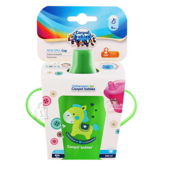 CANPOL BABIES mittelekkiv tass 250 ml, Green, 31/200_gre