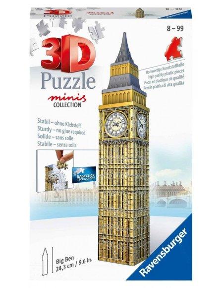 RAVENSBURGER 3D minihoonete pusle Big Ben, 54tk, 11246