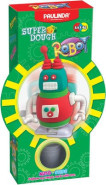 Paulinda voolimiskomplekt SuperDough Tark robot, punane/roheline