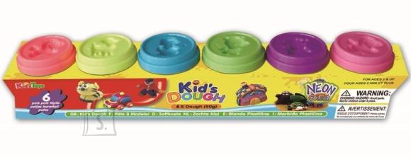 Kid's Dough voolimismass neoonvärvides 6x50 g