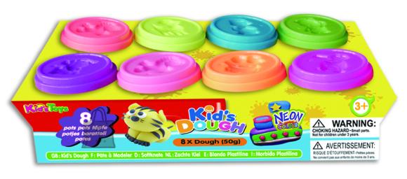 Kid's Dough voolimismass neoonvärvides 8x50 g