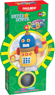 Paulinda voolimiskomplekt SuperDough Tark robot, kollane/sinine