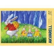 SULEMEES Akvarellplokk A4/200gr, 15 lehte