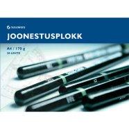 SULEMEES Joonestusplokk A4, 170g, 20 lehte