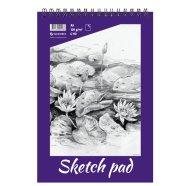 SULEMEES Sketch pad A5, 120g, 40 lehte, perforeeritud lehed, spiraalköide