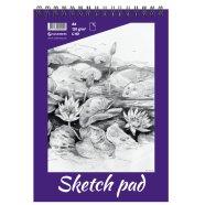 SULEMEES Sketch pad A4, 120g, 40 lehte, perforeeritud lehed, spiraalköide