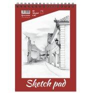 SULEMEES Sketch pad A4, 190g, 30 lehte, perforeeritud lehed, spiraalköide