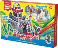 ErichKrause Isevärvitav 3D puzzle Draakoni Rüütlite Kindlus/Artberry 10viltpliiatsit+6 värvilehte