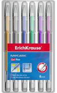ErichKrause Geelpliiatsite komplekt `Metallic` 0,8mm, 6 erivärvilist pakis