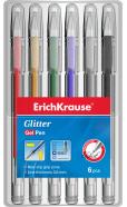 ErichKrause Geelpliiats `Glitter` , 6tk riputuspakis