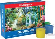 ErichKrause Guaššvärvid 12 värvi, kartongkarbis