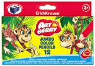ErichKrause Lühikesed värvipliiatsid, kolmnurkne ArtBerry, 12 värvi + teritaja