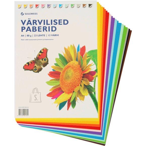 SULEMEES Värvilise paberi komplekt (80gr, 23 lehte, 13 värvi)