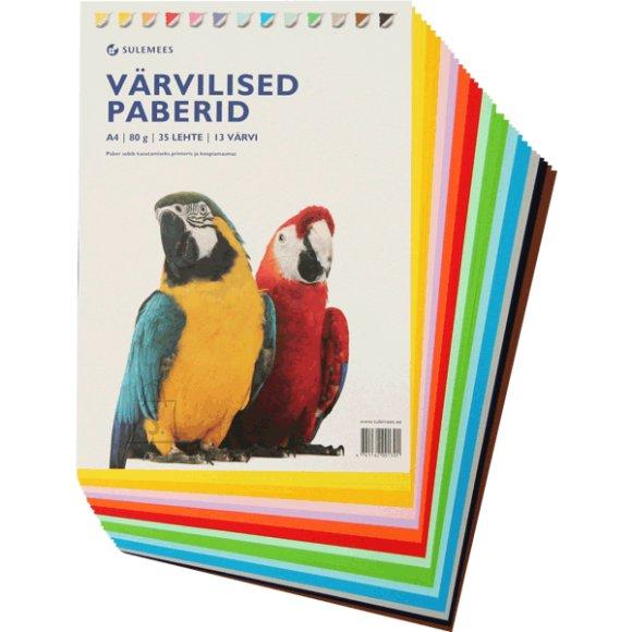 SULEMEES Värvilise paberi komplekt (80gr, 35 lehte, 13 värvi)