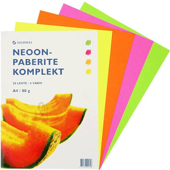 SULEMEES Neoonpaberi komplekt (80gr, 5*4 värvi)