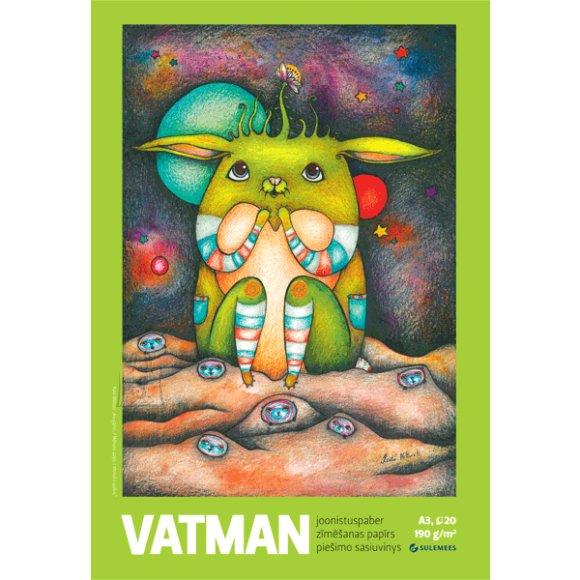 SULEMEES Joonistusplokk Vatman A4, 190gr, 20 lehte