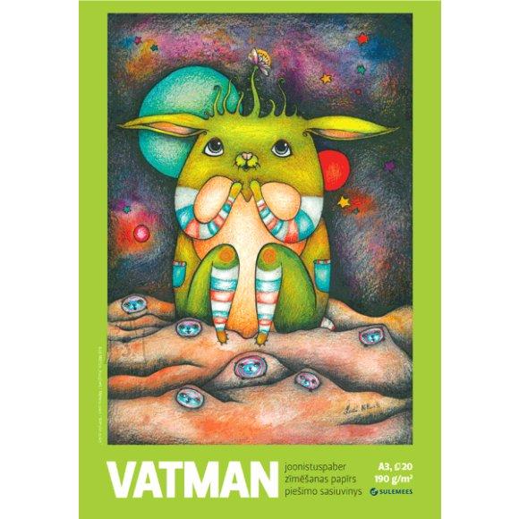 SULEMEES Joonistusplokk Vatman A3, 190gr, 20 lehte