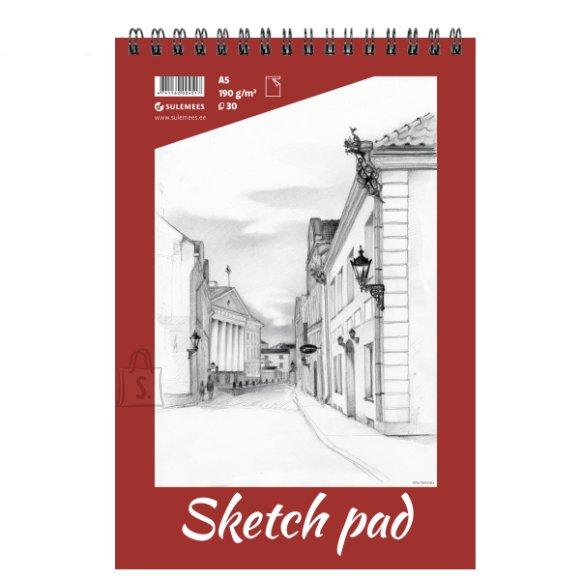 SULEMEES Sketch pad A5, 190g, 30 lehte, perforeeritud lehed, spiraalköide