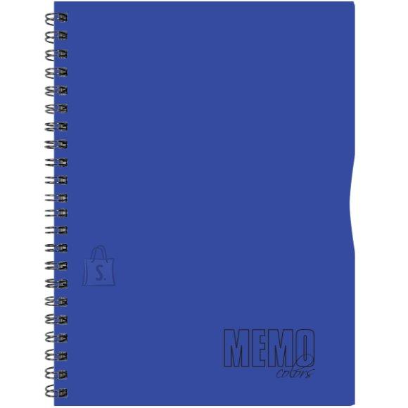 SULEMEES Memo Colour A5 joon, plastikkaaned, 80 lehte, värviline äär, perfo, augud