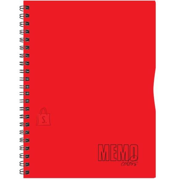 SULEMEES Memo Colour A4 joon, plastikkaaned, 80 lehte, värviline äär, perfo, augud