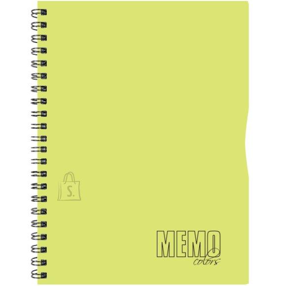 SULEMEES Memo Colour A4 ruut, plastikkaaned, 80 lehte, värviline äär, perfo, augud